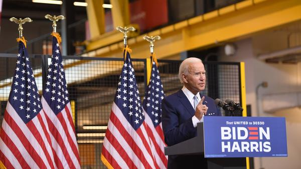 Democratic presidential nominee Joe Biden denounced President Trump during remarks in Pittsburgh on Monday.