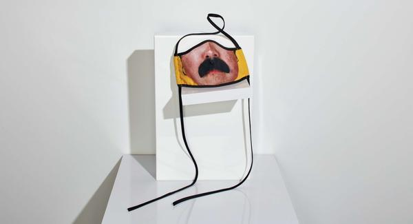 """Photographer Catherine Opie made this mask for Los Angeles Museum of Contemporary Art. """"I wanted to make something with a bit of humor ... humor is needed in this moment,"""" Opie says."""
