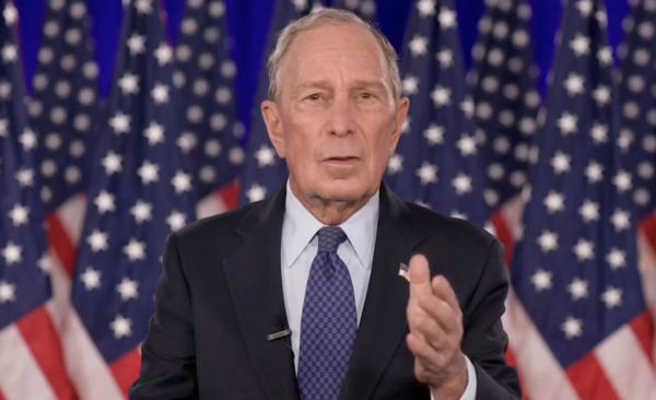 Mike Bloomberg, seen here giving an address during last month's virtual Democratic National Convention, has pledged a big sum to help Joe Biden win Florida.