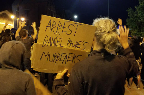 Protesters in Rochester, N.Y., call for justice for Daniel Prude, a 41-year-old Black man who died of asphyxiation after being restrained by police during an arrest in March.