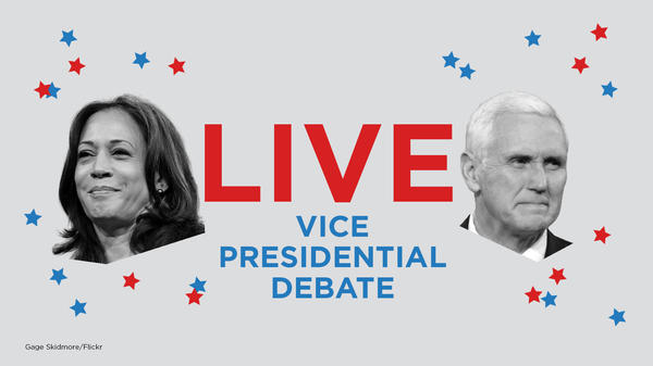 Vice President Pence and Democratic vice presidential nominee Kamala Harris are debating Wednesday night in Salt Lake City.