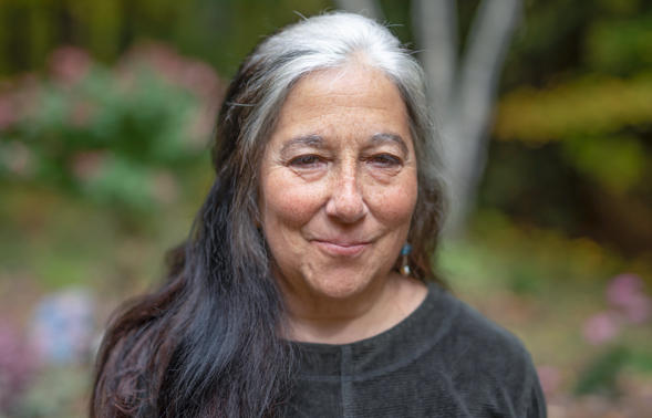 """Jinny Savolainen has spent her time during the pandemic interviewing her neighbors in Leverett, Mass. """"Just when things seemed so dark, I found some light in the words of the people all around me,"""" she said."""