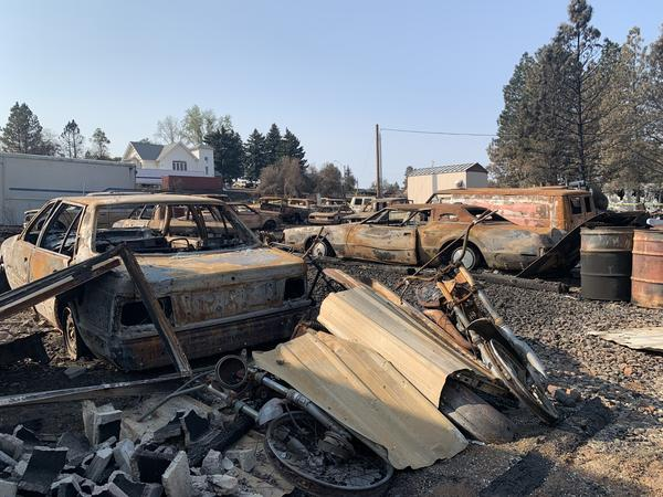 Most of the buildings and homes in Malden, Wash., were destroyed in the Labor Day wildfire.