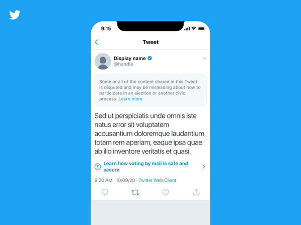 Twitter will add more prominent labels to misleading tweets from U.S. politicians and other high-profile users. Other users won't be able to read the posts until they click past a warning screen.