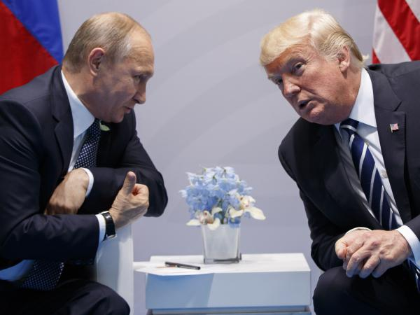 President Trump meets with Russian President Vladimir Putin at the G-20 summit in 2017 in Hamburg, Germany.