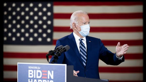Democratic presidential nominee Joe Biden speaks about his vision for older Americans Tuesday in Pembroke Pines, Fla. President Trump won the senior vote four years ago.