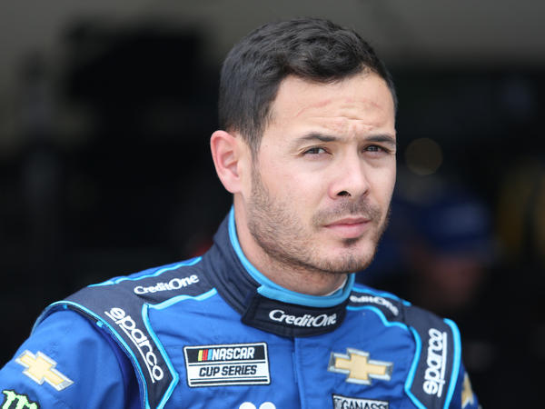 Kyle Larson, shown here during a practice at Daytona International Speedway in February, has been reinstated by NASCAR after he was suspended in April.