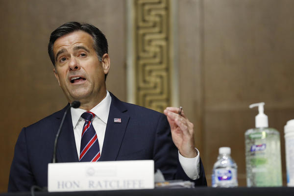 Director of National Intelligence John Ratcliffe during his Senate confirmation hearing earlier this year.