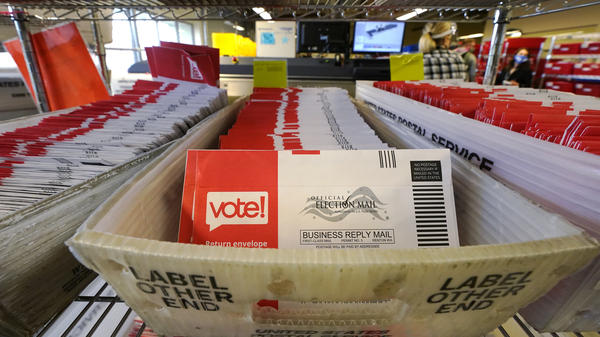 The Postal Service says it has already handled 100 million election ballots this year.