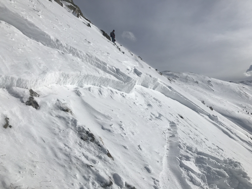 An image of the March 25 avalanche taken by one of the snowboarders responsible for triggering it, who's now facing reckless endangerment charges.