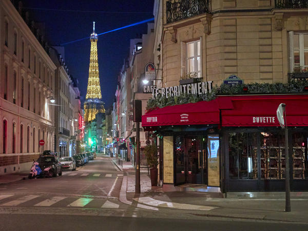 Paris is under nightly curfew, starting at 9, to curb the spread of rising coronavirus cases.