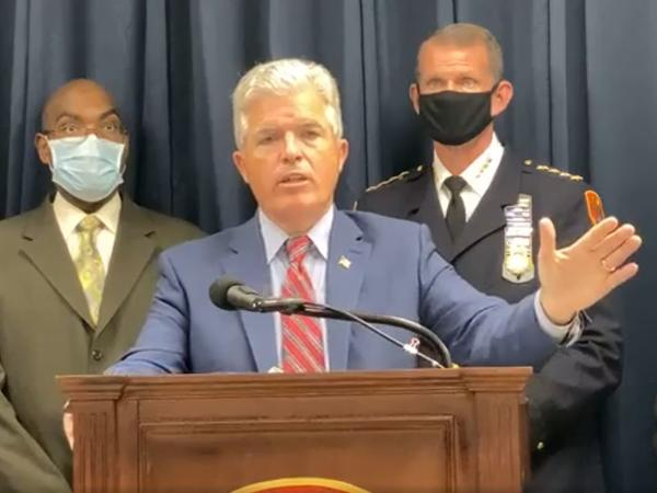 Suffolk County Executive Steven Bellone announced fines on Wednesday against a Long Island, N.Y., country club and a resident for hosting events in violation of social-gathering limits.