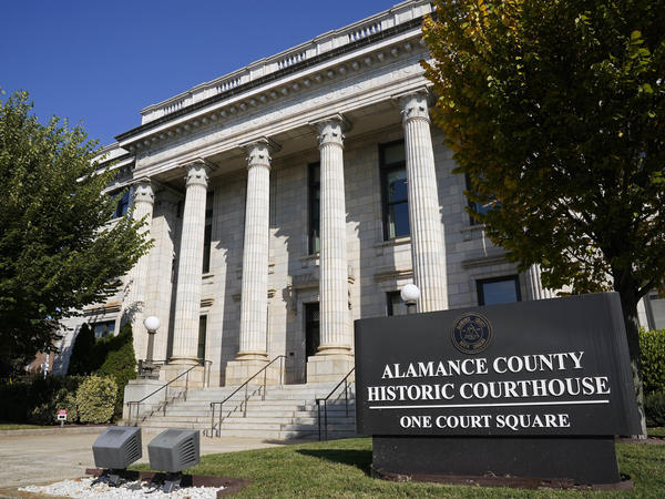 Police in Graham, N.C., used pepper spray and made several arrests at a rally to drive voter turnout at the city's Court Square, pictured above.