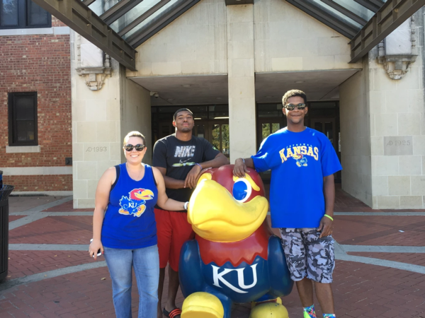 Albert Wilson (middle) was a student at The University of Kansas when he was first accused of rape in Sept. 2016.