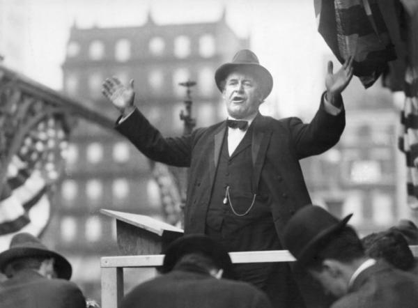 A congratulatory telegraph from William Jennings Bryan, Democratic presidential candidate in 1896, is considered to be the first public concession in U.S. presidential politics.