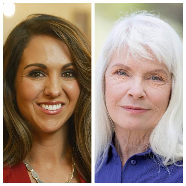 Lauren Boebert, left, and Diane Mitsch Bush are facing off in Colorado's 3rd Congressional District