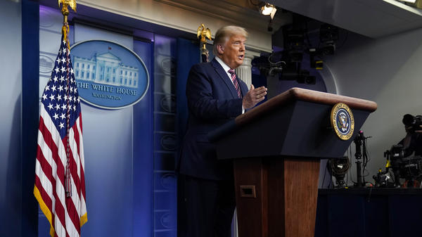 From the White House on Thursday, President Trump claimed, without evidence, that election fraud was the reason for his diminishing leads in several key states.