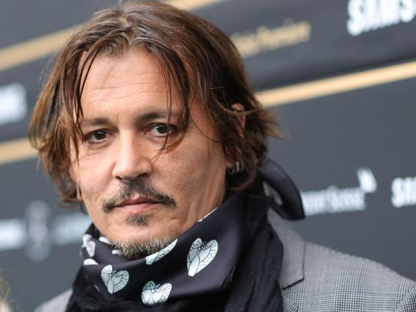 Johnny Depp attends a film premiere in Zurich, Switzerland on Oct. 2.