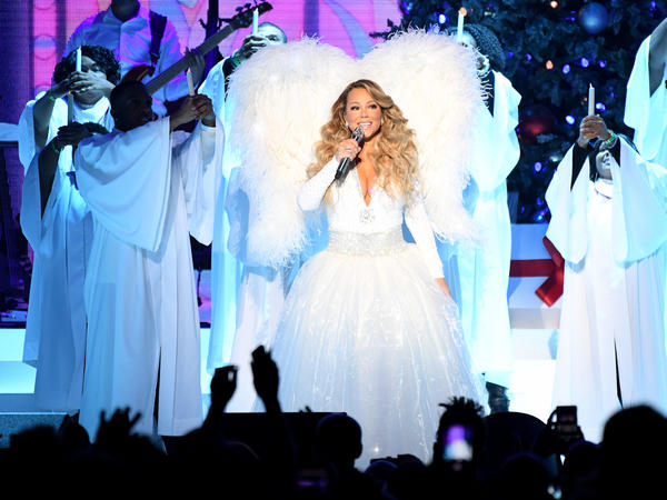 """Mariah Carey performs onstage during her """"All I Want For Christmas Is You"""" tour at Madison Square Garden on Dec. 15, 2019 in New York City."""