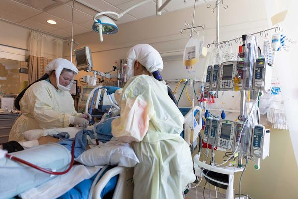 Inside the ICU at Intermountain Medical Center in Murray, Utah