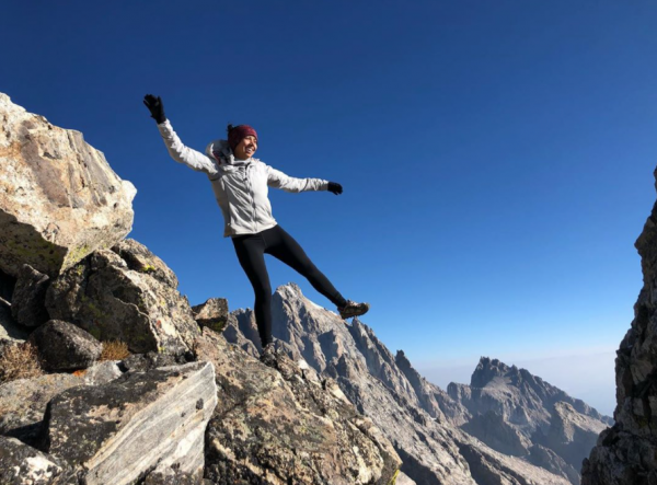 "Vanessa Chavarriaga says anti-geotagging campaigns are ""perpetuating who has access to nature, which has historically been White people."" She posted this photo to Instagram from the Cloudveil Traverse in the Teton Range."