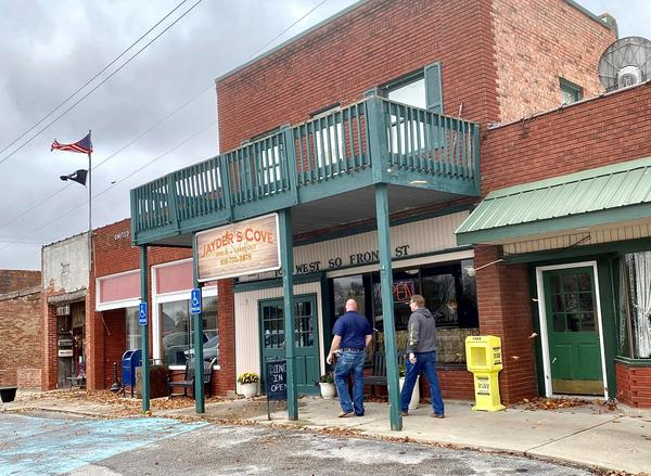 The lunch rush in downtown Orrick Missouri