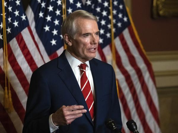 Sen. Rob Portman, R-Ohio, has enrolled in a Phase 3 clinical trial for a COVID-19 vaccine.