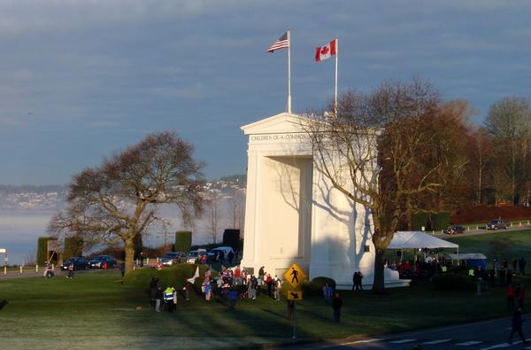 Cross-border traffic at the Peace Arch and other places along the U.S.-Canada border has fallen dramatically since nonessential crossings were limited due to the pandemic.