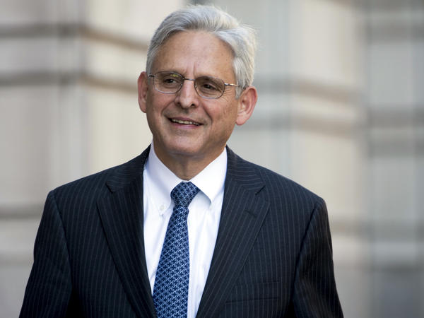 U.S. appellate Judge Merrick Garland walks into federal court in November 2017 in Washington. He could be in contention for a nomination to become attorney general.