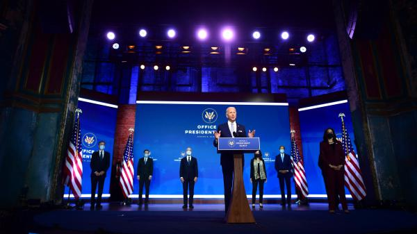President-elect Joe Biden introduces key foreign policy and national security nominees and appointments Tuesday in Wilmington, Del.