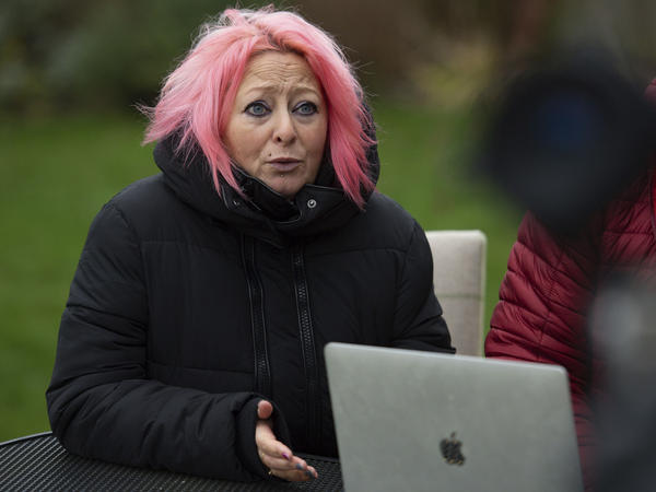 Charlotte Charles, mother of 19-year-old Harry Dunn, is seen in Charlton, England, on Tuesday. Dunn's family lost a court battle with the U.K. government over whether the American driver who fatally struck their son had diplomatic immunity.