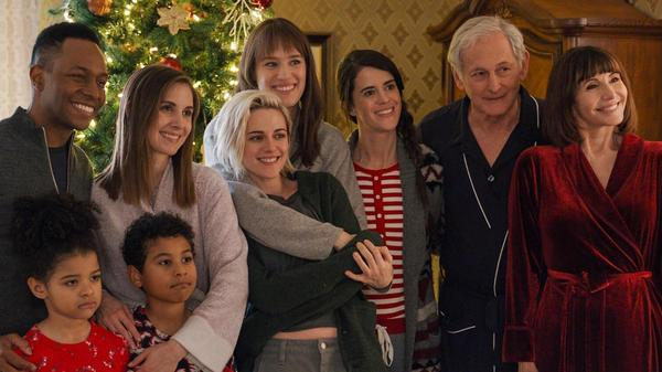 The big family in <em>The Happiest Season </em>includes Burl Moseley, Alison Brie, Kristen Stewart, Mackenzie Davis, Mary Holland, Victor Garber and Mary Steenburgen. (Whew!)