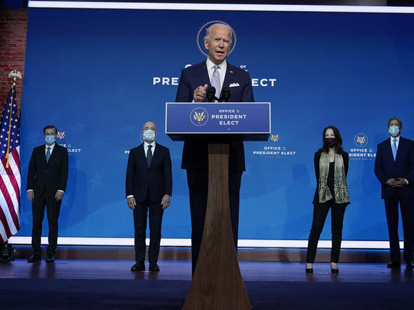 President-elect Joe Biden on Tuesday introduced his nominees and appointees to key national security and foreign policy posts. In an exclusive interview with NBC News' Lester Holt he said key agencies from the Trump administration are reaching out to facilitate the transition of power.