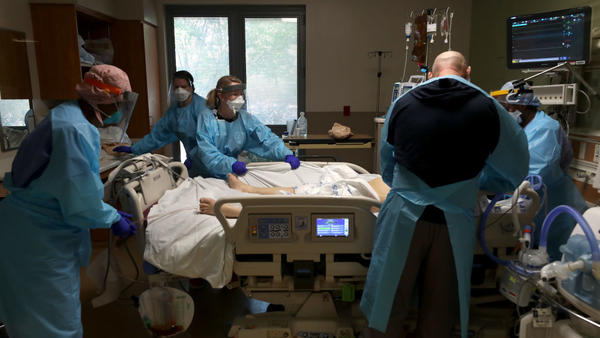 Surging hospitalizations are straining health care systems around the United States.