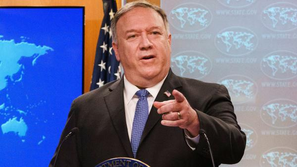 "Secretary of State Mike Pompeo answers questions Tuesday about a transition to a Biden administration, telling reporters the election is not yet decided. ""When we get it right, we'll get it right. We're in good shape,"" Pompeo said."