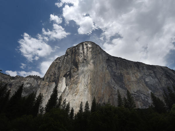 Emily Harrington became the first woman to climb, in less than one day, the Golden Gate route of El Capitan in Yosemite National Park, pictured here in June 2015.