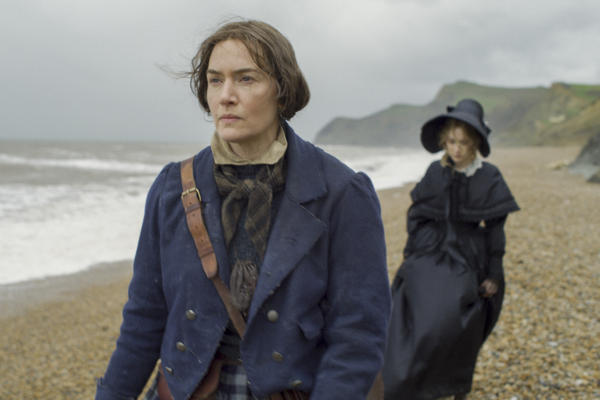 """""""I feel proud of myself now, as a 45-year-old woman, to have just played a role in which ... my age really shows on my face,"""" says Kate Winslet. She plays British paleontologist Mary Anning in the new film <em>Ammonite.</em>"""