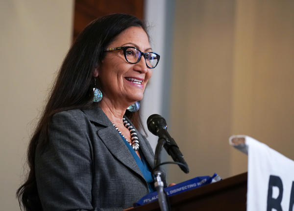 If selected and confirmed as President-elect Joe Biden's interior secretary, New Mexico Rep. Deb Haaland, seen here on Capitol Hill in September, would be the first Native American Cabinet secretary in U.S. history.