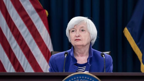 Then-Federal Reserve Board Chair Janet Yellen speaks during a briefing in 2017. President-elect Joe Biden reportedly will nominate Yellen as his Treasury secretary.
