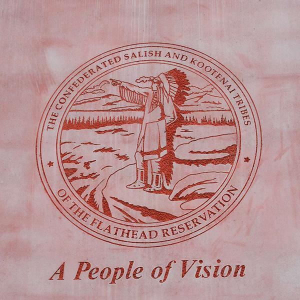 Logo of the Confederated Salish and Kootenai Tribes.
