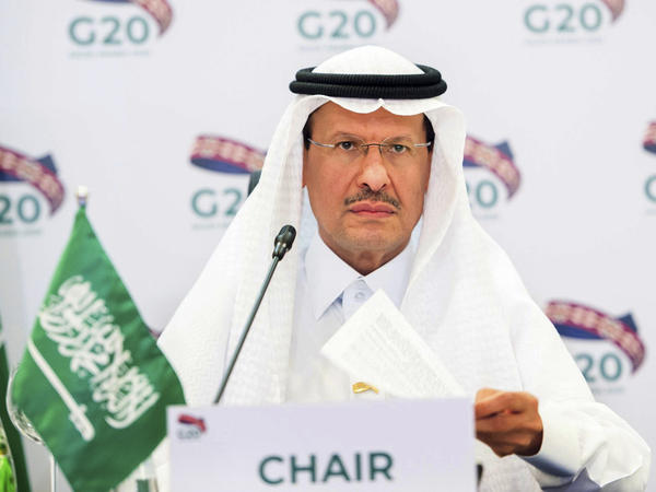 Prince Abdulaziz bin Salman, Saudi Arabia's minister of energy, chairs a virtual Group of 20 ministers meeting in April. The Saudi-led OPEC cartel decided to boost production modestly amid considerable uncertainty about the global economy.