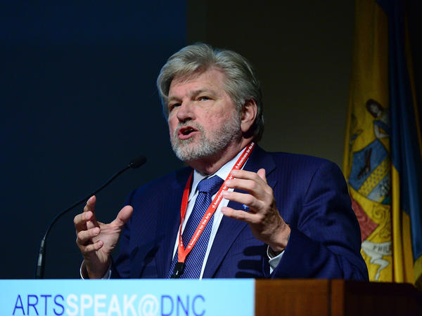 Robert Lynch, President and CEO of Americans for The Arts, speaks during ARTSSPEAK Policy Forum 2016 at The Philadelphia Art Museum during The Democratic National Convention