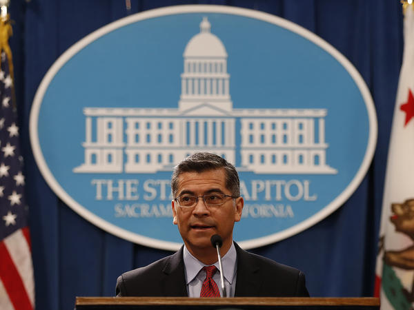 President-elect Joe Biden has picked Xavier Becerra, shown here in a 2018 file photo, as his nominee for health and human services secretary.