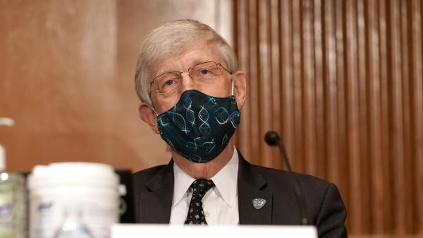 Dr. Francis Collins, director of the National Institutes of Health, listens during a Senate committee hearing in September. Collins told NPR that scientists from the Food and Drug Administration have been closely analyzing data from vaccine trials to determine safety.