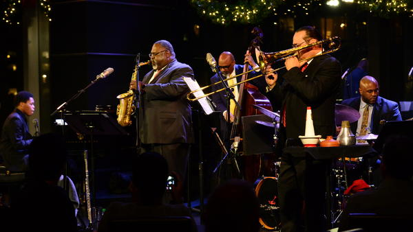 "Saxophonist Sherman Irby preforms winter classics like ""Let It Snow"" and ""Santa Claus Is Coming To Town"" for the <em>Jazz Night In America</em> holiday special."