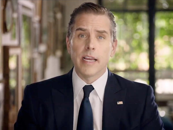 Hunter Biden makes an address virtually to the Democratic National Convention in August.