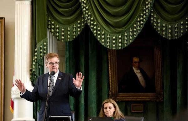 Lt. Gov. Dan Patrick presiding over the Senate in the 2019 legislative session.