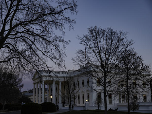 The White House is shown as the sun sets on Wednesday in Washington, D.C.