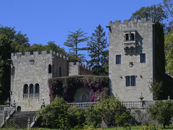 The Pazo de Meirás, seen here in September, has been turned over to the Spanish state by the heirs of Gen. Francisco Franco. The summer palace in Sada, in the region of Galicia, had been the subject of a contentious lawsuit that the Spanish government won.
