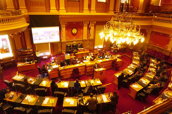 The Colorado Senate begins a special session on Monday to tackle coronavirus relief spending. Eleven senators participated remotely due to the recent surge in COVID-19 cases.